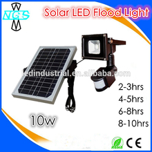 Solar panle 10W led flood light with PIR sensor motion sensor led solar light