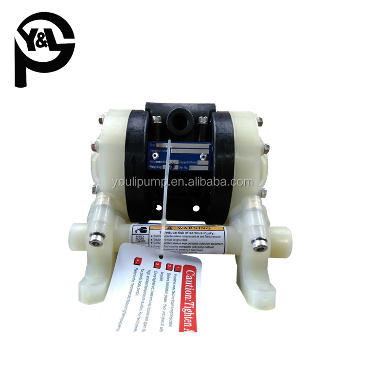 Centrifugal plastic(PP or PVDF) 1 inch air trash pump in industry and agriculture