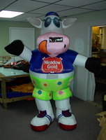 Most lovely inflatable animals costume fat cartoon characters costume for promotion advertisement
