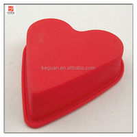 S-A0025 popular nice design colorful heart shaped silicon bakeware