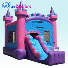 hot sale Computer Printing vinyl inflatable bouncy castle with water slide