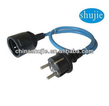 Waterproof Extension Cord reel IP44 power cord ;schuko extension cord;modem extension cord