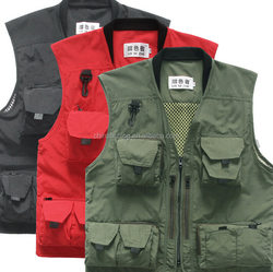 Many Color Modern Design High Quality Pockets Fishing Suit Outdoor Fly Fishing Vest