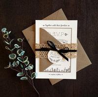 Rustic Watercolor Flowers Handrawn Printable Wedding Invitation Digital File wedding invitatio card&thank you card