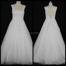 Fashion New Sleeveless Lace Wedding Dress Applique Bridal Ball Gown
