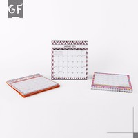 Custom New Style Manual Agenda Standing Desk Calendar