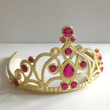 HBN-1460 Girls fashion crown tiara Gold party tiara for children