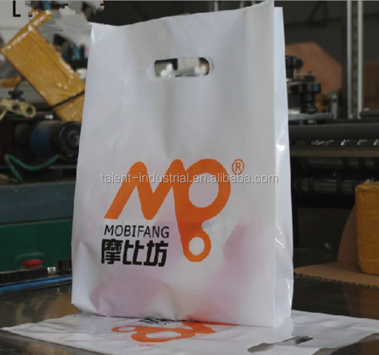 Customised PE T-shirt plastic shopping bag with your logo