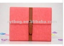 2012 pink leather cover for tablet for ipad tablet case