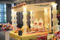 Crystal & metal LED Wedding Occasion and Party Favor Event & Party Item Type wedding mandap new design