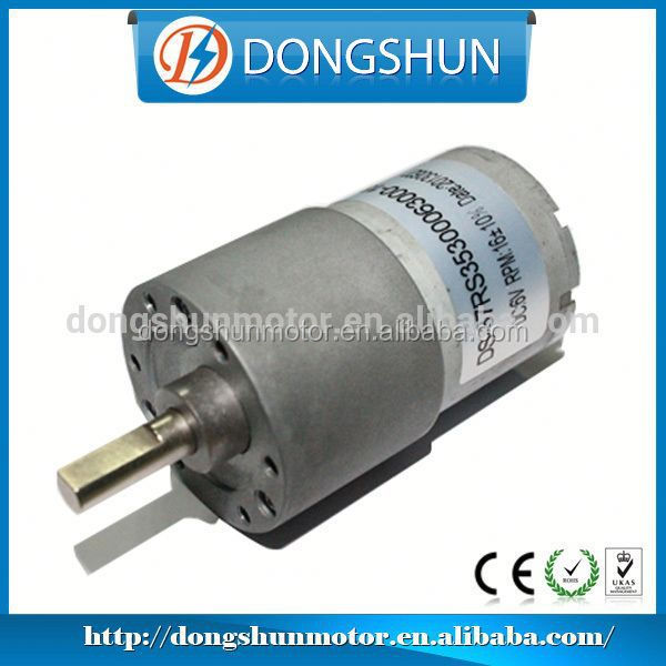 DS-37RS3530 37mm Good quality DC 12V 6 rpm gearmotor