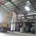 used black engine oil to yellow recycling plant