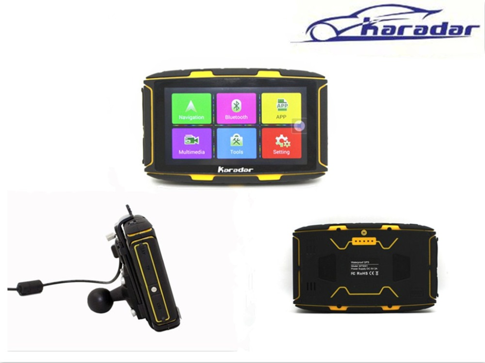 New 5 inch android gps waterproof gps navigator used for automobile & motorcycle