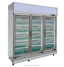Remote Compressor Glass Door Beverage Display Refrigerator With IEC