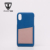 Real Lambskin Leather Mobile Phone Case Bulk Color Blocking Smart Cell Phone Case with Card Slot