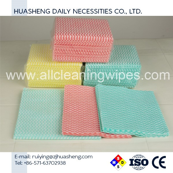 2017 Wholesale high quality nonwoven kitchen cleaning wipes