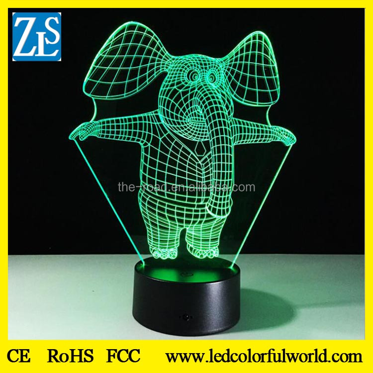 3D animal small DIY LED acrylic night light lamp for children