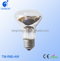 modern lighting mirror reflection r63 r80 bulb dimmable filament led e27 r80 r63