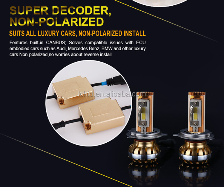 Newest Super bright 30W 60W 3200LM 4900LM H13 auto bulbs car LED headlights 3000K 6000K 10000K White