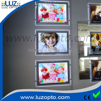 Single side wall mounted combined LED acrylic light box
