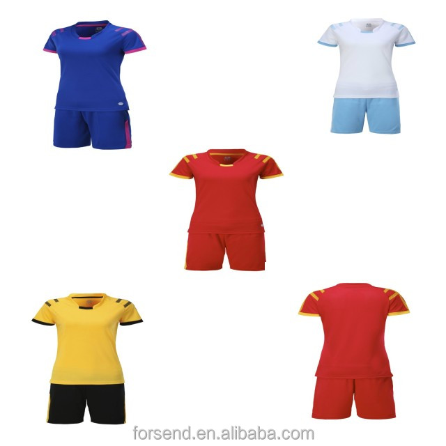 Wholesale Woman Quick Fit blank Training Sport uniforms Wear Printing Red Soccer Jerseys