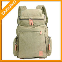 Slr canvas camera backpack with computer interlayer