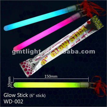 "6"" slim glowing stick with cap"