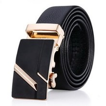 leather belts for men automatic buckle ratchet slide holeless belt