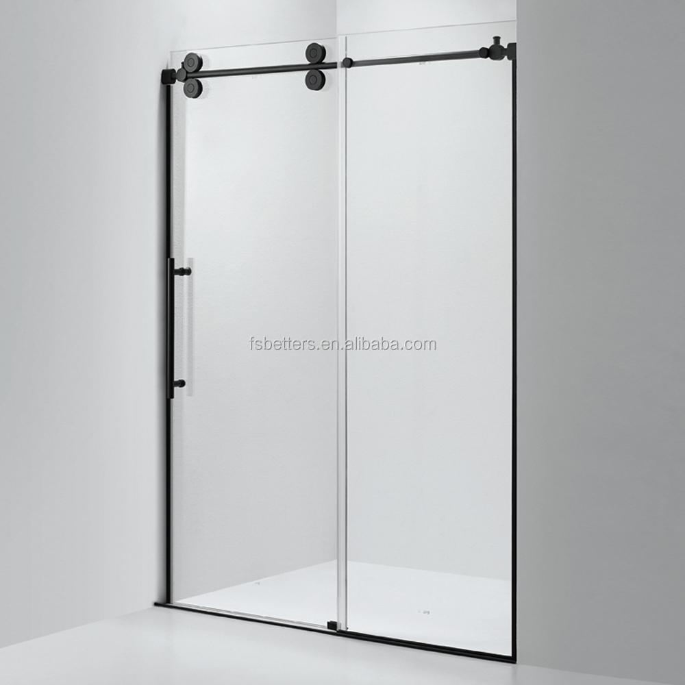 Black Frame 10mm Frosted Glass Sliding Shower Door - Buy Frosted ...