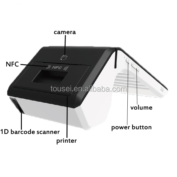 Android cheap touch screen pos system for banking, restaurant, retail and capital tracking