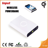 Slim Wireless Charger Portable External Battery Pack Qi Wireless Power Bank