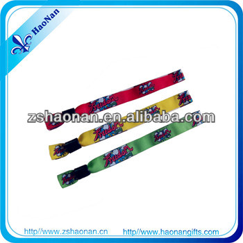 15*350mm thermocol /Polyester wristbands for brazil world cup 2014
