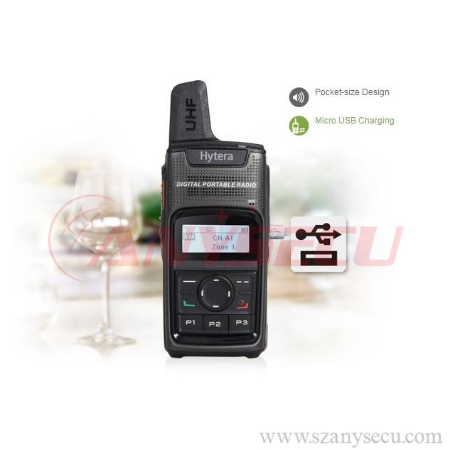 long talk range Hytera Digital Migration UHF PD375 walkie talkie for security police