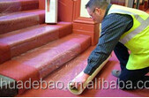 PE Protection Film Rubber Flooring Stairs For Dust Control