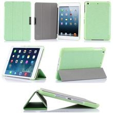 Factory Supplier Ultra Slim Simple design Leather Tablet Cover for iPad mini 3
