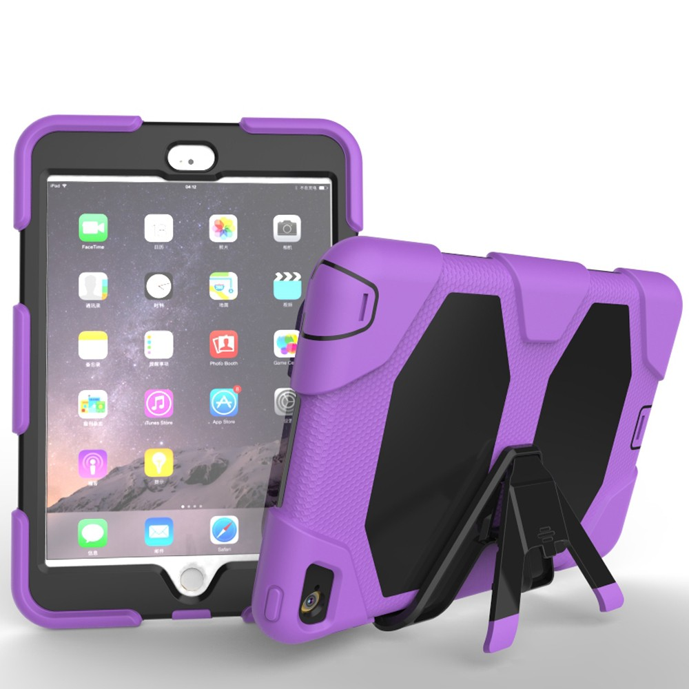 For IPad Mini 4 Heavy Duty 3 layer Back Cover Case Shockproof Armor Case