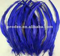 Royal blue rooster tail feather long saddle hackle feather cock tail feather