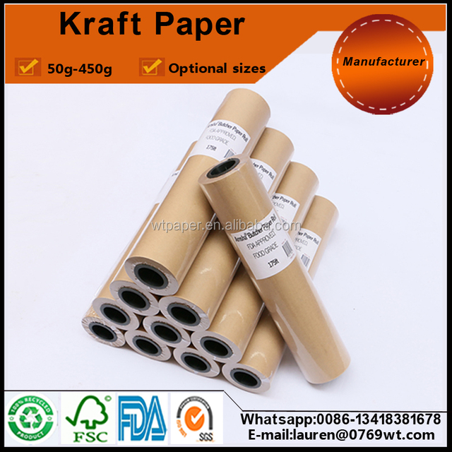 100gsm kraft paper roll for writing on