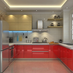kitchen cabinet aluminium profile with 4mm glass