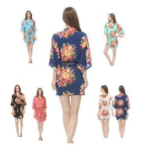 wholesale supply floral style cotton bath robe