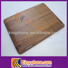 for ipad 3 high quality sapele wood cover , real wooden case for ipad 3
