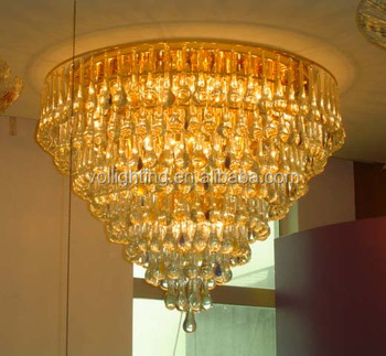 Hotel project light K9 crystal chandelier ceiling lamp