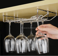 Glassware Storage Organizer Wine Glass Rack Under Cabinet