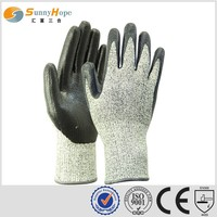SUNNYHOPE nitrile foam cut resistant gloves level 5 hand protective gloves