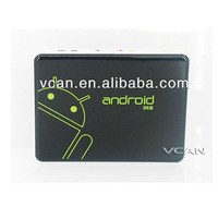 VCAN0662 tv box android with DVB-S2 support built in wifi for AML8726-M3