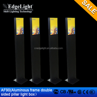 Edgelight AF90 display board free standing led flat panel displays , iron body , standard A4 poster size LED display