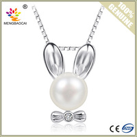 Rabbit Cage Pendant Charms Natural Freshwater