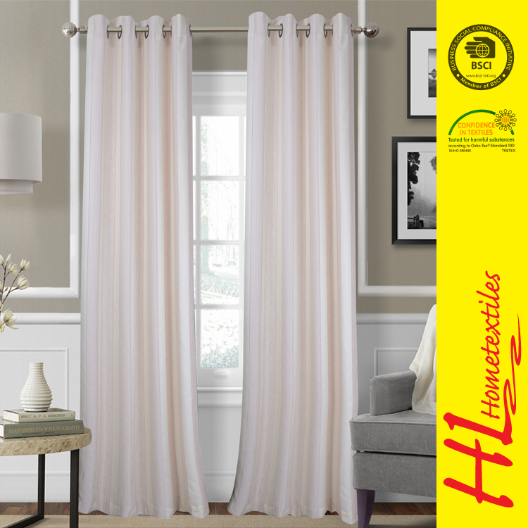 NBHS low MOQ sheer window treatment curtain embroidered sheer curtains