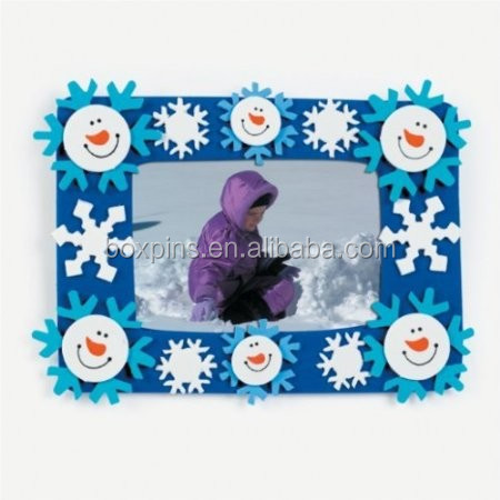 Foam Smile Face Snowman Photo Frame Magnet Craft Kits