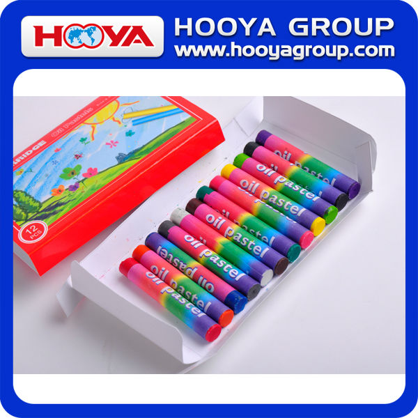12pcs stationery promotion wholesale Kids multicolor for kids oil pastel